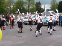 Morris dancing at the sports ground